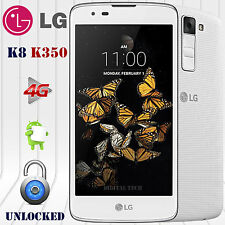"LG k8 k350 4G LTE Android 6.0 (8GB) 5.0"" HD 8MP Factory Unlocked GSM Phone White"