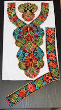 ethnic boho festival embroidery lace applique patch motif abaya kameeze asian