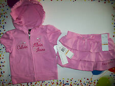 Calvin Klein Top/Skort Outfit 2pc Set Baby Infant Sz 12 Mos Girls Pink NWT