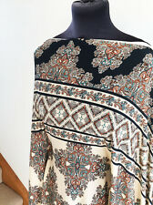 Persian Inspired  Border Print Floral/Flower Stretch Jersey Dressmaking Fabric