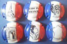 """lot de 6 capsules de champagne génériques """"patriotes"""" n°944 à 944e"""