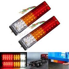 2Pcs Frein Feu Arrière Lampe 12V 20 LEDRecul Indicateur Camion Remorque Caravane