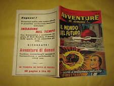 AVVENTURE DI DOMANI  EDIZIONI MONDIALI  NUMERO 24 DEL 20 DICEMBRE 1957