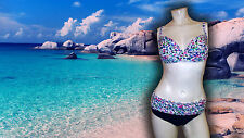 NWT PROFILE BY GOTTEX  MULTICOLOR SPRING DAISY 2 PC BATHING SUIT SWIMSUIT SZ- 10