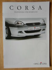 IRMSCHER OPEL Corsa 1999 2000 German Mkt brochure prospekt - Vauxhall related