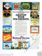 Publicité advertising 1984 Brittany Ferries