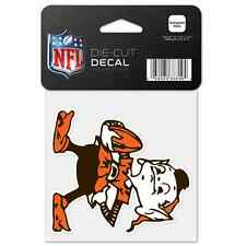 Cleveland Browns Car Window Decal 4 Perfect Cut Brownie