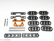 XRA340004 TEAM XRAY RX8 2016 SPEC 1/8 ON ROAD REAR HINGE PINS SUSPENSION MOUNTS