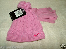 NIKE GIRLS HAT & GLOVE SET, SIZE 4-6X, PINK COLOR, NWT.100% AUTHENTIC