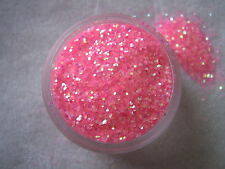 3G POT ROSE VIF MÉTAL PAILLETTES BRILLANTES NAIL ART/EMBOUTS/ACRYLIQUE/GEL