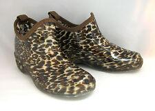 New Women's Short Rain Boots Garden Ankle Shoes Fashion Print Colors, Size: 5-10