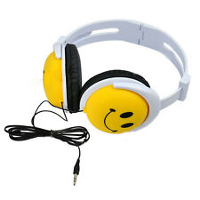 Cartoon Smile Face Foldable Children Kids Wired Headphones Earphone Headset