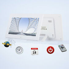"10"" Digital Photo Frame LED Backlight Picture Video Player Remote Control WHI UK"