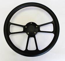 """68 69 Charger Dart Coronet Black on Black Spokes Steering Wheel 14"""""""