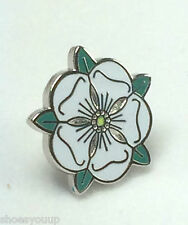 Job Lot  5 x Small County of Yorkshire White Rose Quality enamel lapel pin badge