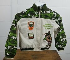 Scooby Doo Boy's 18M Patchwork Full Zip Collectible Youth Bomber Jacket Tan Camo