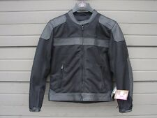 NWT River Road Womens Pecos Classic Leather Mesh Jacket Black Medium 093577