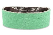 4 X 21 Inch 40 Grit Metal Grinding Ceramic Sanding Belts, Extra Long Life 3 Pack