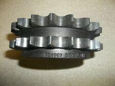"Dodge D60BTL21H 101069 3-3/16"" Bore Double Row Roller Chain Sprocket"