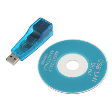 USB 2.0 To LAN RJ45 Ethernet 10/100Mbps Network Card Adapter blue for PC AX UR
