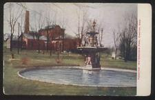 Postcard CANTON Ohio/OH  Water Works Ornate Figural Fountain view 1907
