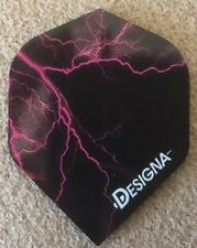 Designa Darts Lightning Strike Flights Extra Strong Std Shape Free P&P