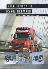 Prospectus accessoires scania des pièces de freins 1999 brochure accessories Accessoires Camion