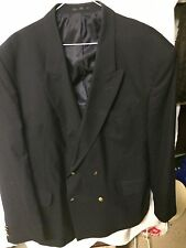 """MANS BLAZER DOUBLE BREASTED  'CHUMS' QUALITY MAKE GOOD COND 42""""-44"""" CHEST"""