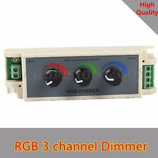 DC12V-24V 3 Channel Dimmer Adjust Controller For RGB 3528 5050 LED Strip light