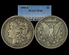 1893 S MORGAN DOLLAR PCGS VF 20 !! THE KEY!!