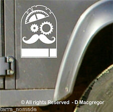 STEAMPUNK  4X4 STICKERS DECAL DEFENDER DISCOVERY RANGE, LAND ROVER