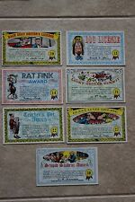 Lot of 7 1964 Topps postcard size Nutty Awards trading cards