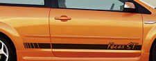 Focus ST Car Sticker Side Stripe, Custom Vinyl Decal, Car Graphic