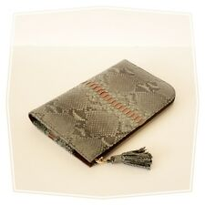 Genuine Python Leather Travel Wallet Organiser Passport Document Holder