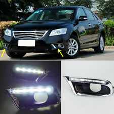 1 Pair White LED Headlights Daytime Running Light DRL For TOYOTA Camry 2009-2011