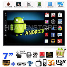"GPS Navi Android 4.4 Quad Core 7"" Double DIN 3G WIFI Car MP5 Player Radio Stereo"