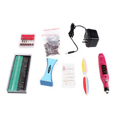 Professional Manicure Pedicure Electric Drill Nail Pen Machine Set Kit 6 Bits