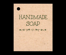 50 *HANDMADE SOAP* HANG TAGS PERSONALIZE ITEMS PRICE CRAFTS GIFT KRAFT