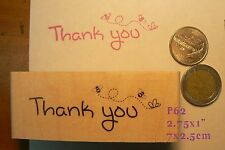 P62 Thank you bees  rubber stamp