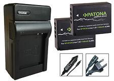 2 x Patona Akku Battery + Ladegerät Fuji-Film X-T1 / X-T2 / X-T10 - NP-W126-S