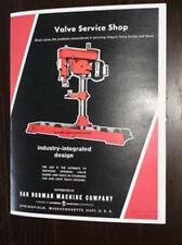 Van Norman IDL 650 Seat & Guide Machine Instructions