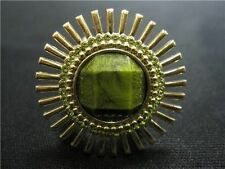 KATE SPADE GOLD FLOWER STAR SARDINIAN SUN GREEN RING SZ: 6 NWT