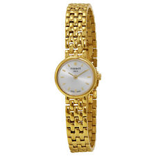 Tissot T-Trend Lovely Silver Dial Gold-plated Ladies Watch T0580093303100