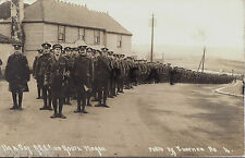 WW1 Group NCOs & Gunners RGA Royal Garrison Artillery route march Bexhill Sussex