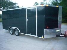 8.5x16 Enclosed Trailer Cargo V-Nose Tandem Utility Motorcycle Lawn 14 18 NEW