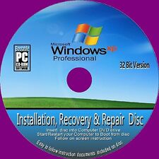 WINDOWS XP PRO 32 Bit FULL inc SERV PACK 3 INSTALLATION RECOVER REPAIR CDROM NEW
