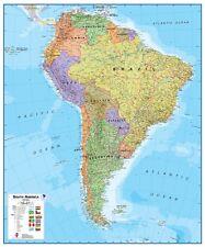 Poster Südamerika Landkarte politisch Hochformat 100x120cm #110059