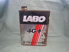 AC954 BIDON HUILE LABO 4G +  MOTEURS ESSENCE MOTOR OIL 2 LITRES MOYEN ETAT