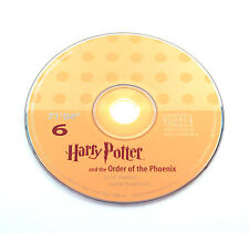 Harry Potter Order of the Phoenix Stephen Fry Audio Book CD SPARE DISC: SIX 6