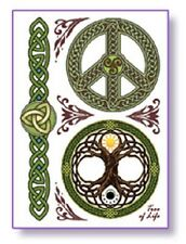 TREE OF LIFE Temporary Tattoos Set Wiccan Pagan T30